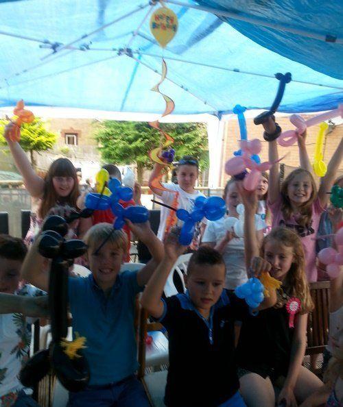 Children's birthday garden party