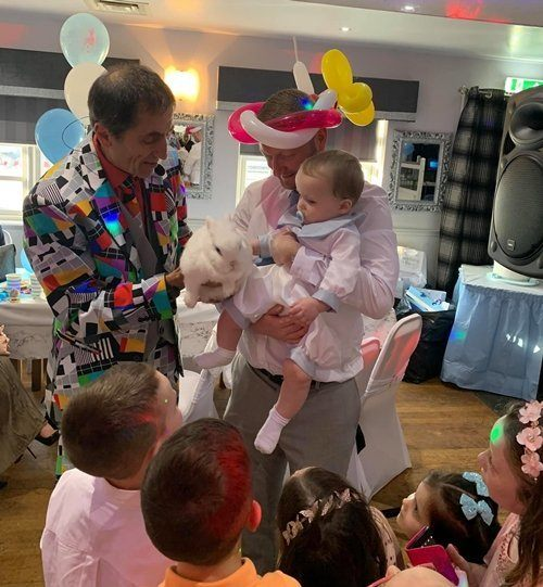 Kids magic show with bunny