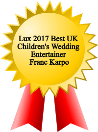 Children's wedding entertainer award